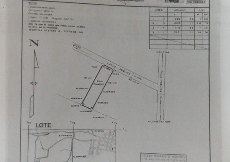 Plano casa en venta orotina
