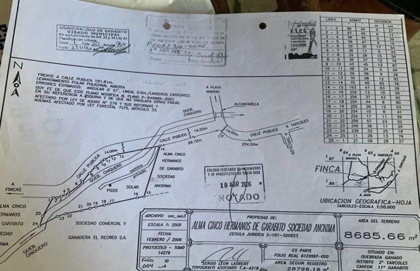 Lot plan map